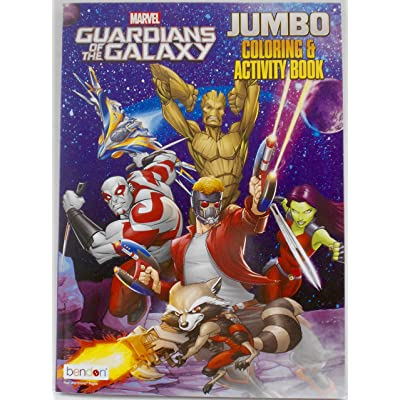 Marvel Guardians of The Galaxy Jumbo Coloring & Activity Book: Toys & Games