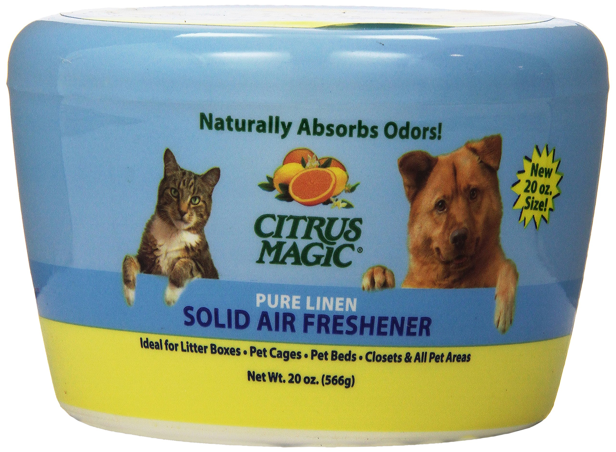 Citrus Magic Pet Odor Absorbing Solid Air Freshener Pure Linen, 20-Ounce