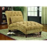 Coaster Home Furnishings Transitional Chaise, Desert Sand