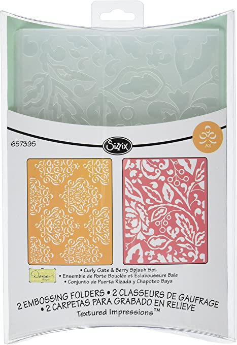 Sizzix Tim Holtz SNOWFALL SPECKLES embossed card panel