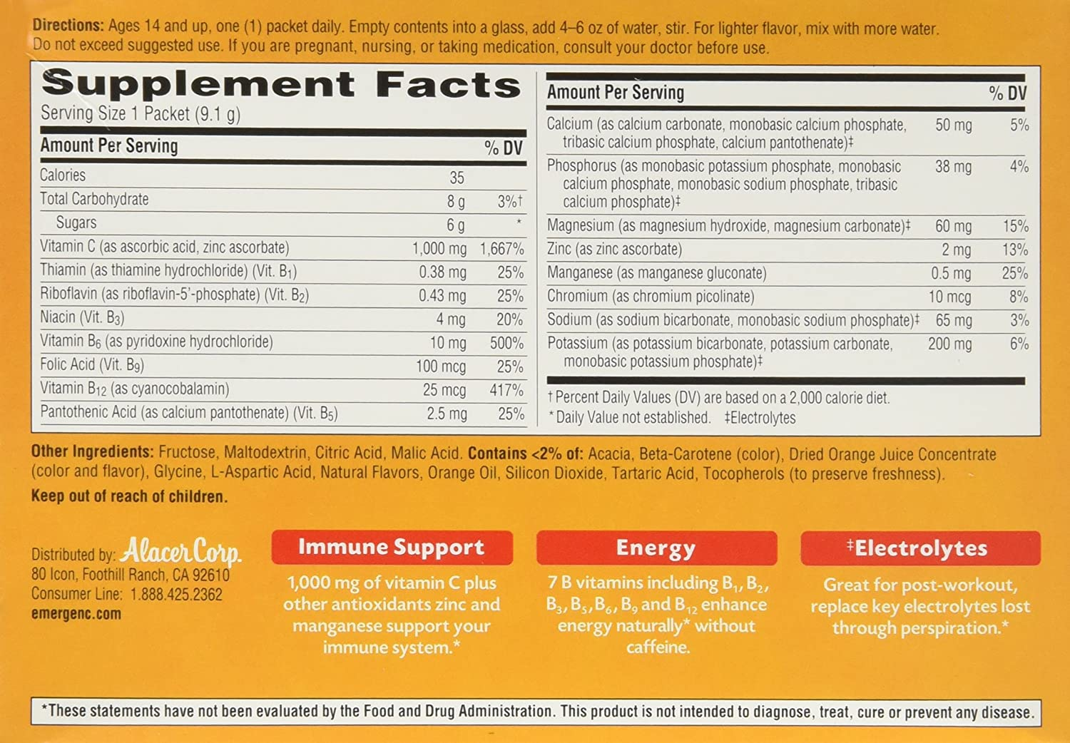 k of c nutrition facts pdf
