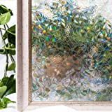 CottonColors película Adhesiva Decorativa de Ventana 3D Estático autoadhesivo de ventana Película para Acristalamiento, Película Que Oculta para Acogida oficina, Cuarto de baño Anti UV 60CM x 200CM (2Ft X 6.5Ft)