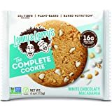 Lenny & Larry's The Complete Cookie, White Chocolaty Macadamia, Soft Baked, 16g Plant Protein, Vegan, Non-GMO, 4 Ounce Cookie