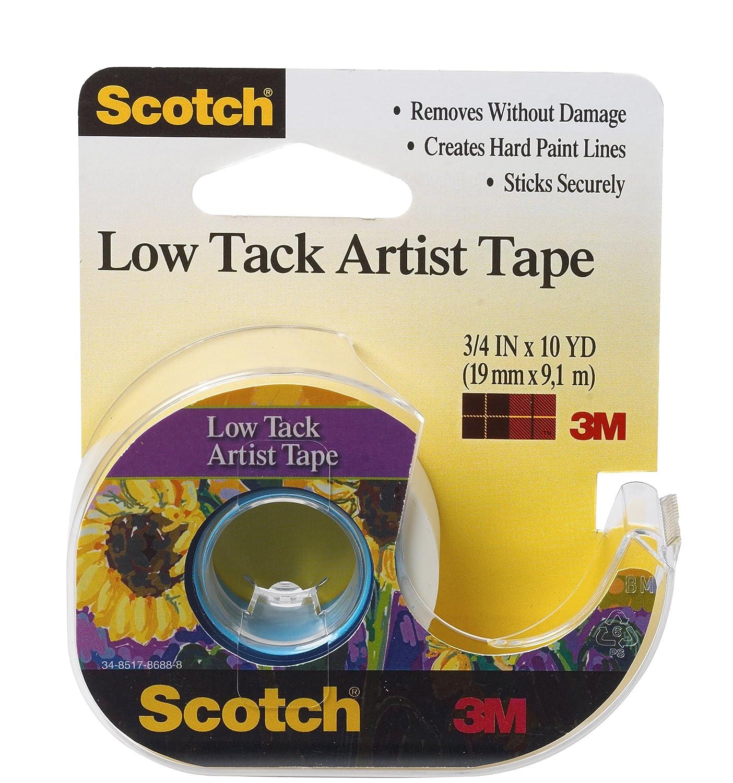 """Scotch Low Tack Artist Tape-.75/""""X10yd FA2020"""