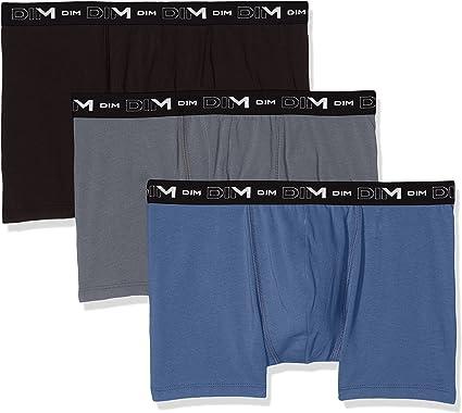 Dim Cotton Stretch alg. Elástico Boxer, Multicolor (Azul Turquin/Gris Souris/Negro 6QZ), Medium (Tamaño del Fabricante:3) (Pack de 3) para Hombre: Amazon.es: Ropa y accesorios