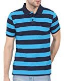 BULLMER Men's Half Sleeve Polo T-Shirt - BUL-BFE414G - Blue