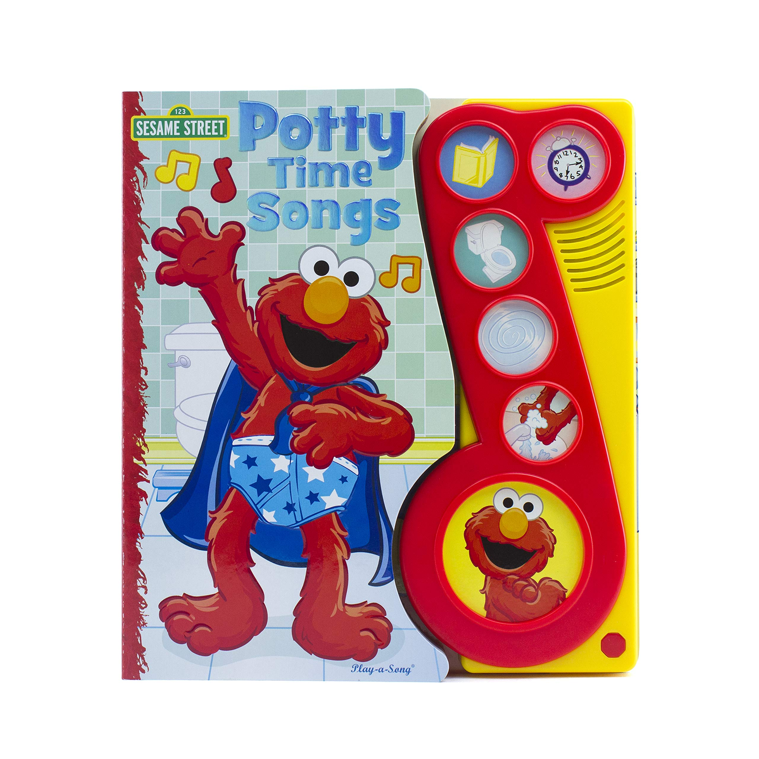 Amazoncom Sesame Street Elmo Potty Time Songs Little Music Note