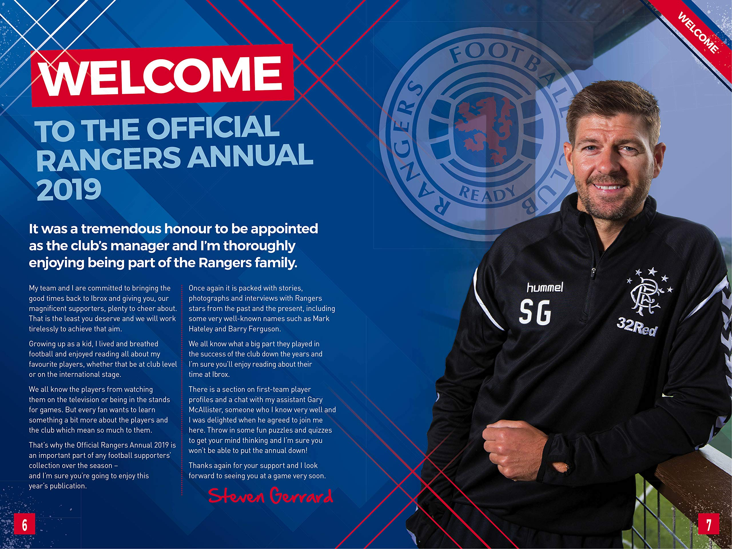 5524a29ce The Official Rangers FC Annual 2019: Amazon.co.uk: Grange Communications:  9781912595174: Books
