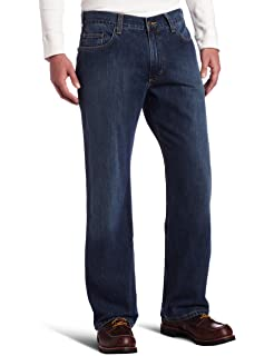 e580e36c52c Carhartt Men's Series 1889 Loose Fit Jean Straight Leg at Amazon ...