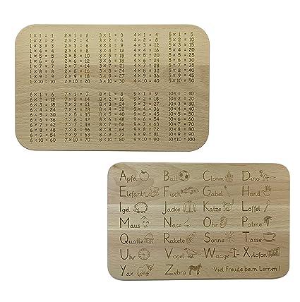 En set: originales bandejas para desayuno para aprender, con las tablas de multiplicar y
