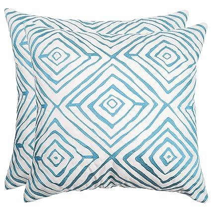 Amazon Com Safavieh Pillow Collection 20 Inch Diamonds Five Light