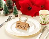 Juvale Christmas Table Place Cards - 50-Pack Kraft