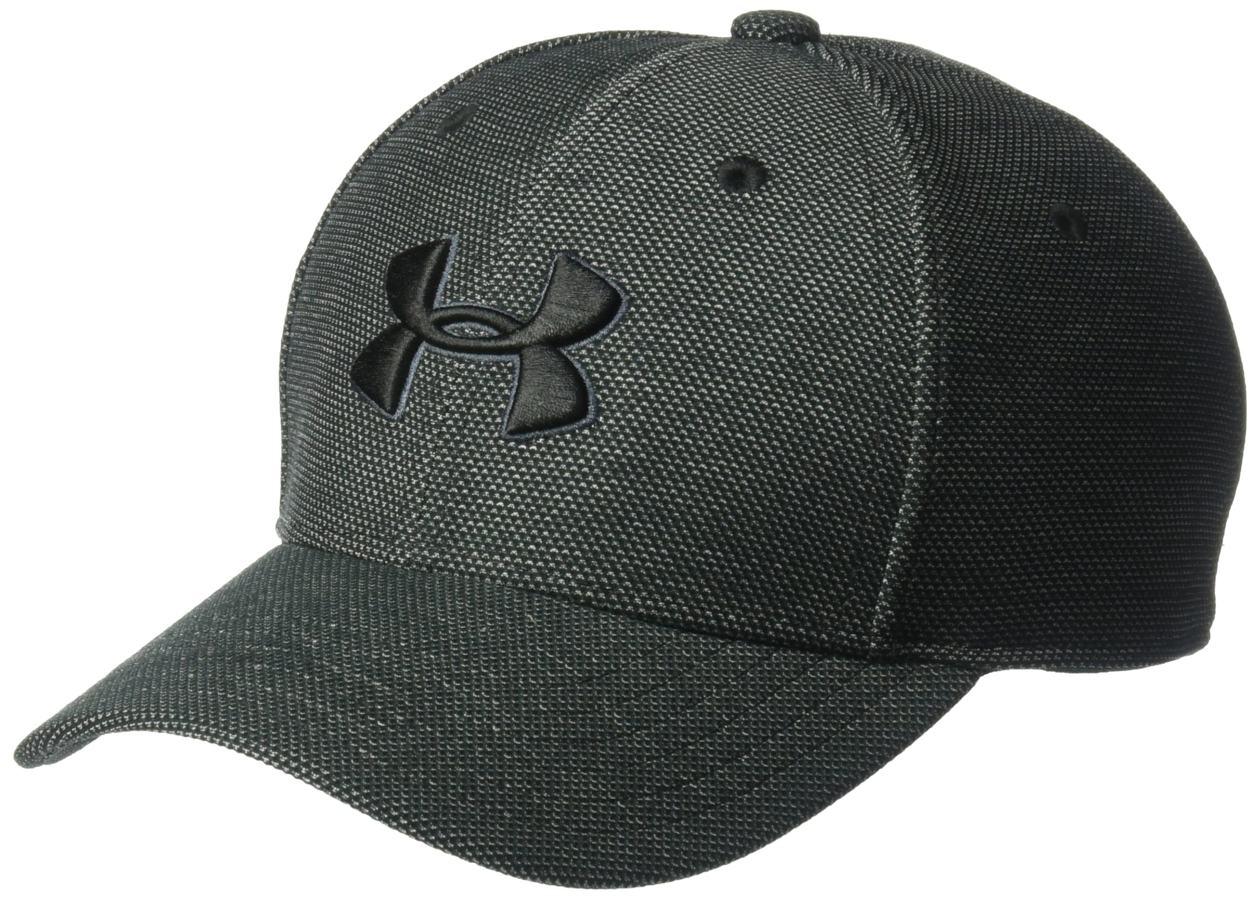 Under Armour Boys' Heathered Blitzing 3.0 Cap, Black (001)/Black, Youth Small/Medium