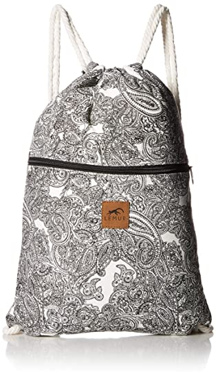 a04eb592b7d9 Lemur Bags Canvas Drawstring Backpack with Front Zipper Pocket - Large  19 quot  x 13""