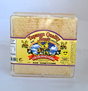 product image for Topanga Quality Honey Comb Raw Honeycomb, Unfiltered, Unpasturized, Best Quality, All Natural, Kosher