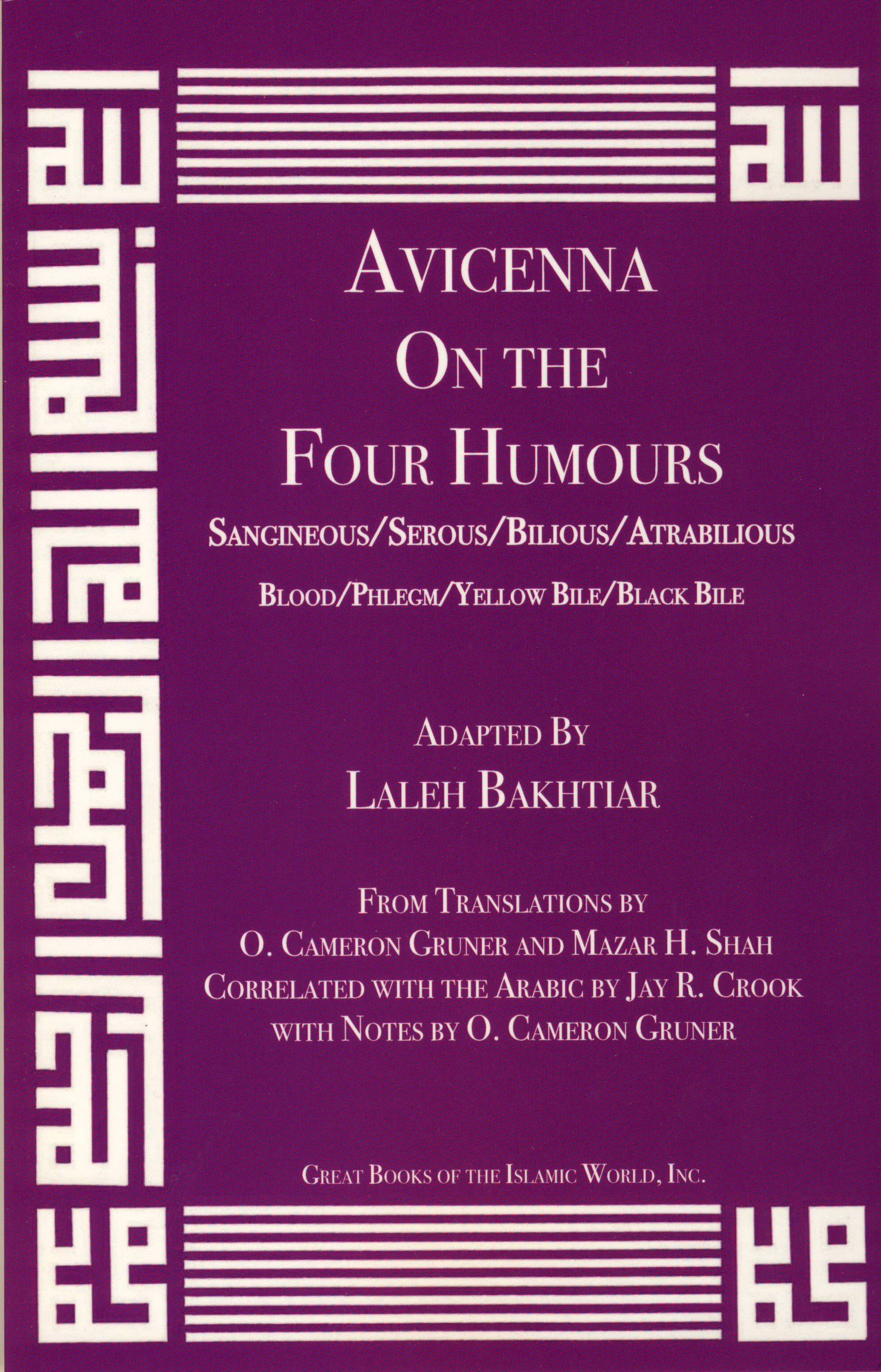 Avicenna On the Four Humours from the Canon of Medicine Volume 1 pdf epub