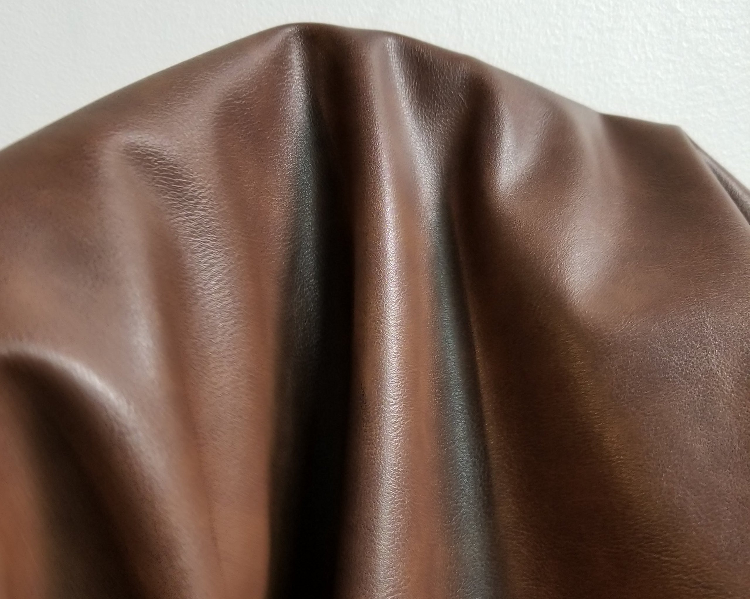 Brown 2 Tone Soft Faux Vegan PU Leather by The Yard Synthetic Pleather 0.9 mm Nappa Yards (72 inch Wide x 52 inch) Soft Smooth Vinyl Upholstery (Antique Brown, 2 Yards (72''x54''))