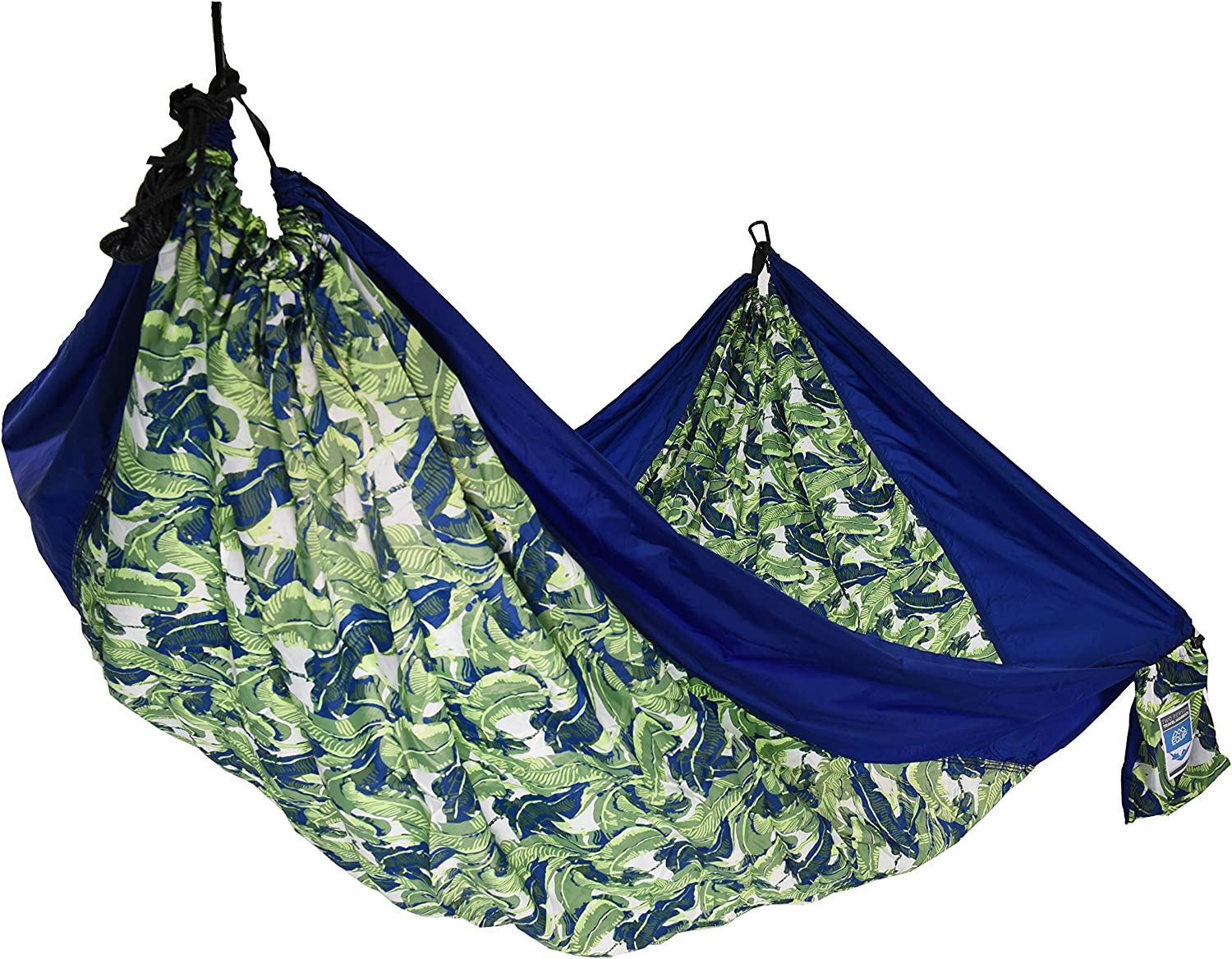 Equip 2p Travel Hammock Navy Palm