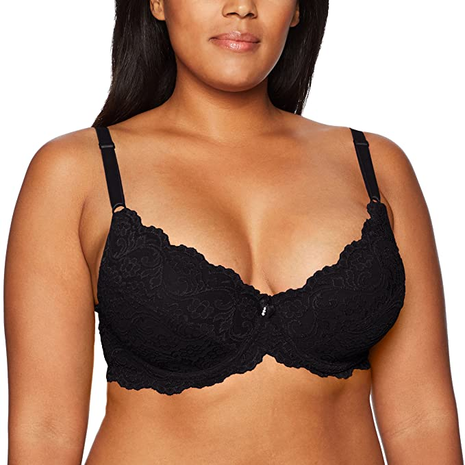 Smart+Sexy Women's Plus Size Curvy Signature Lace Push-up Bra with Added Support, Black