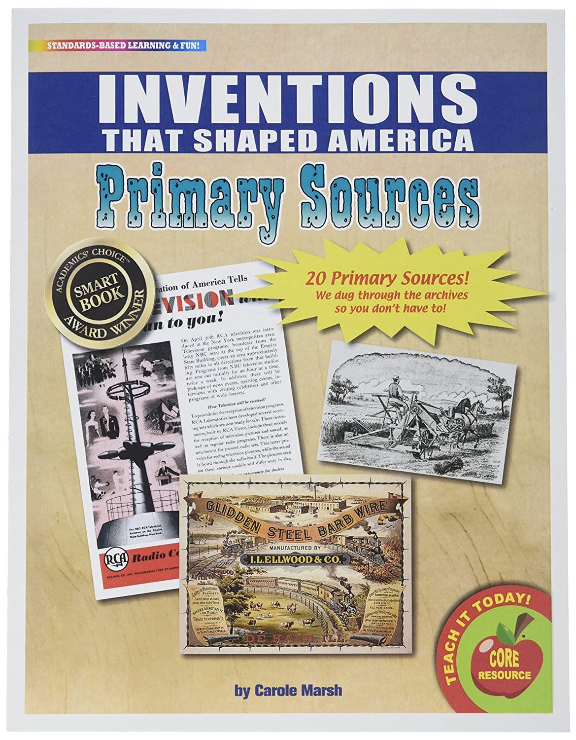 Inventions That Shaped America Primary Sources Pack Gallopade International 9780635116314 NON-CLASSIFIABLE