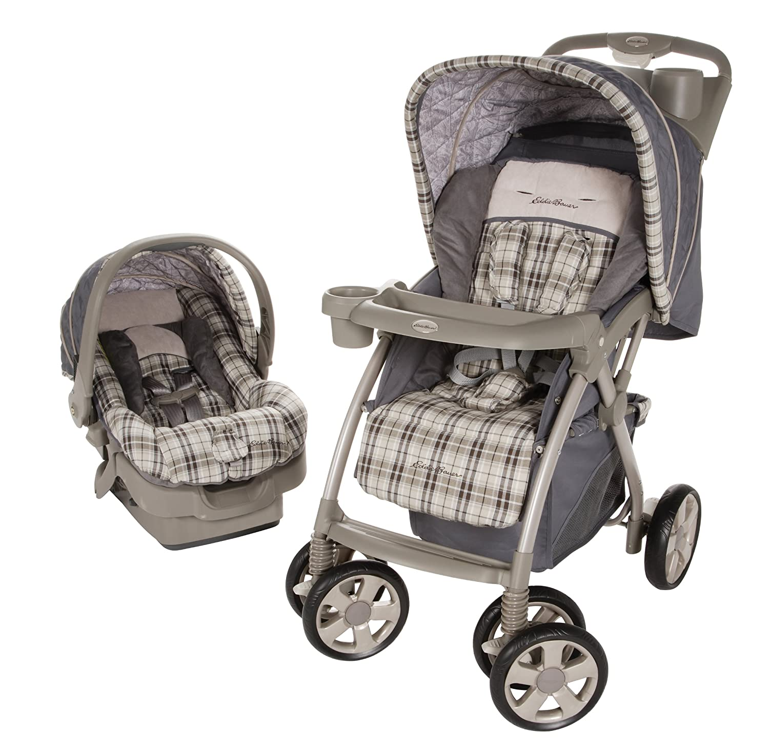 Amazon.com : Eddie Bauer Adventurer Travel System, Stonewood (Discontinued  by Manufacturer) : Infant Car Seat Stroller Travel Systems : Baby
