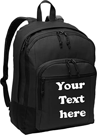 Logo Name Nailhead Book Bag with Laptop Sleeve Personalize with Monogram Back to School Backpack With Custom Embroidery
