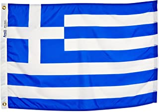 product image for Annin Flagmakers Model 193008 Greece Flag Nylon SolarGuard NYL-Glo, 2x3 ft, 100% Made in USA to Official United Nations Design Specifications