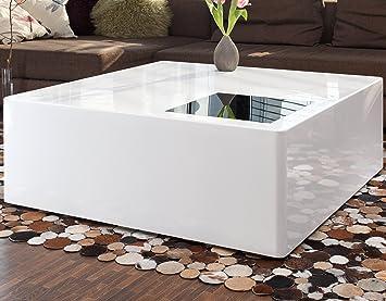 SalesFever Couch-Tisch weiß Hochglanz aus MDF 100x100cm quadratisch ...