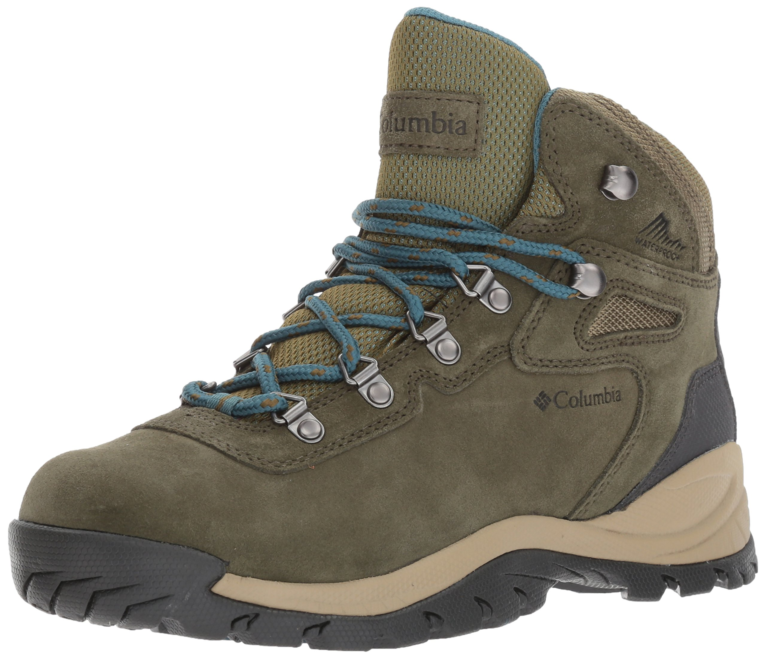 Columbia Women's Newton Ridge Plus Waterproof Amped Hiking Boot Nori/Cloudburst 6 Regular US