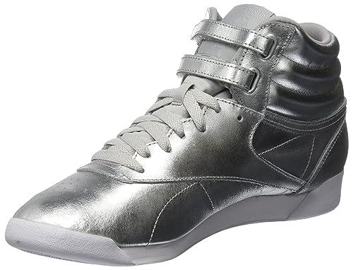 Reebok Freestyle Hi Metallic, Scarpe Collo da Ginnastica a Collo Scarpe Alto Donna      17974f