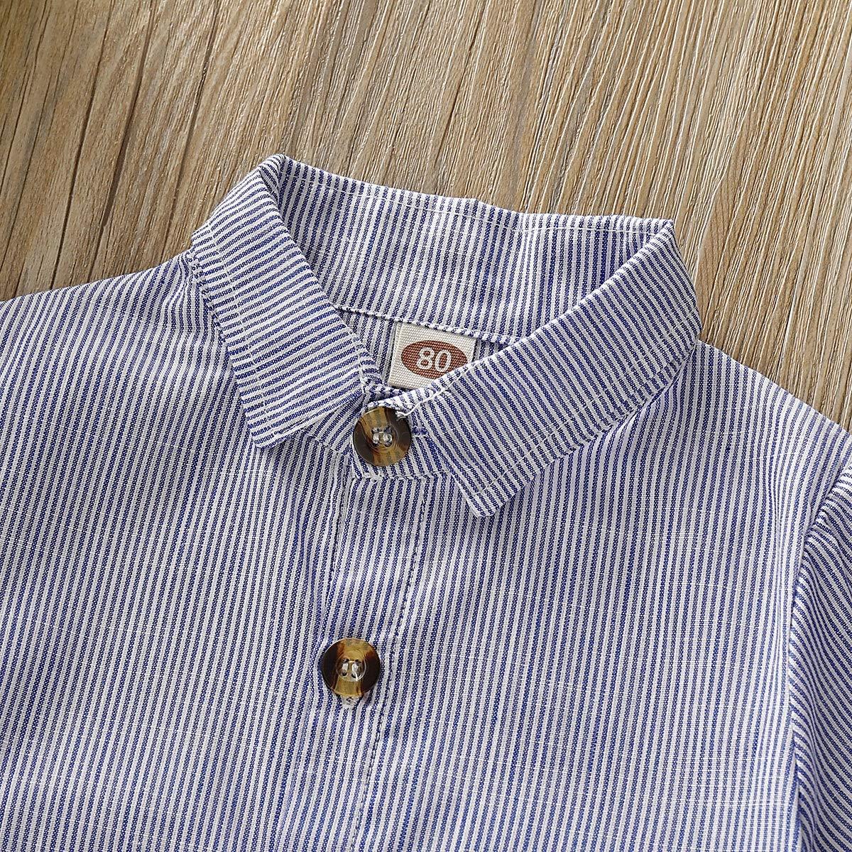 T-Shirt /à Manches ray/ées pour Tout-Petit Haokaini Ensemble de Short /à Bretelles pour gar/çon gar/çon