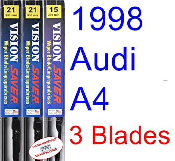 Amazon.com: 1998 Audi A4 Replacement Wiper Blade Set/Kit (Set of 3 Blades) (Saver Automotive Products-Vision Saver): Automotive