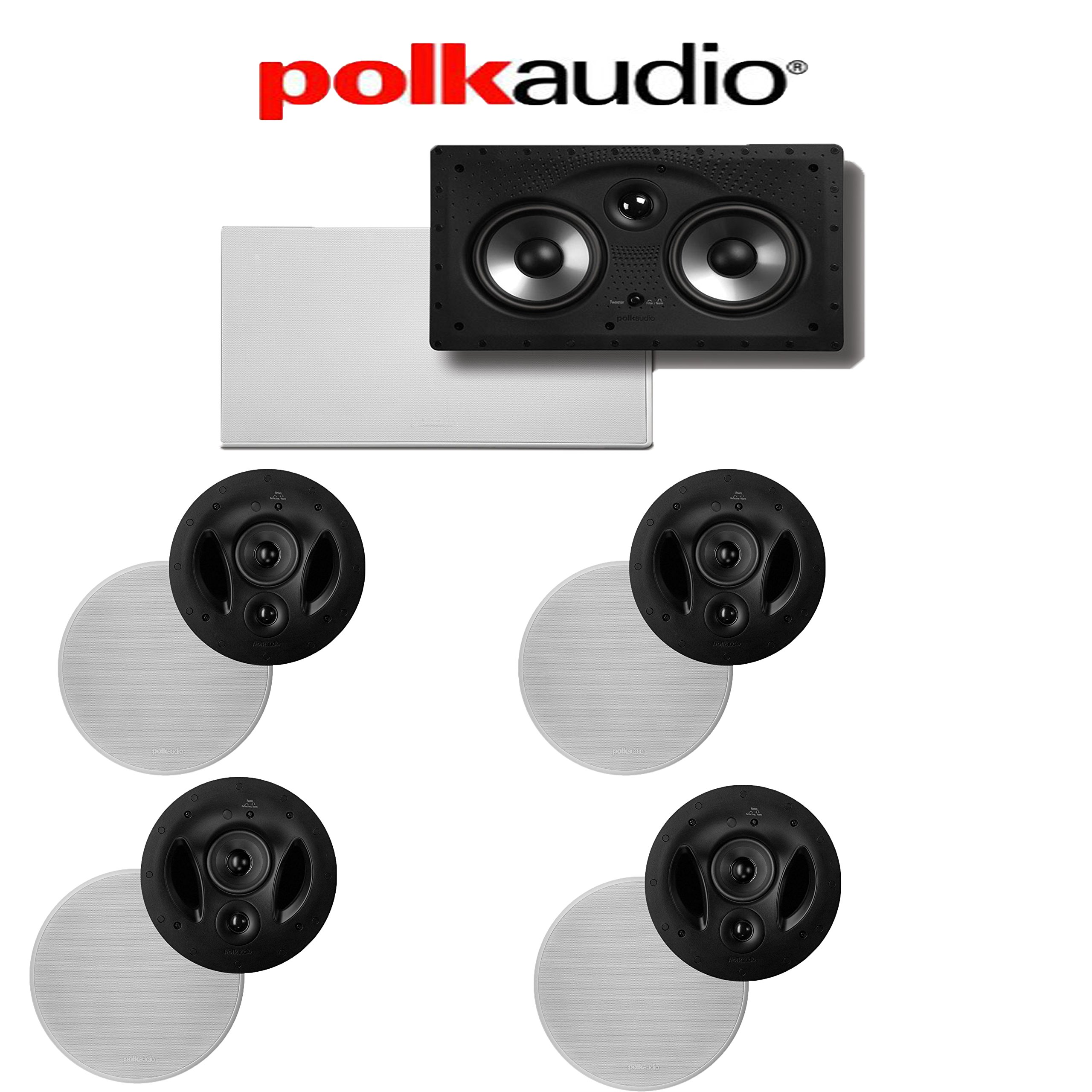 (4) Polk Audio 90-RT + (1) Polk Audio 255C-RT 5.0 High Performance In-Wall / In-Ceiling Home Theater System by Polk Audio