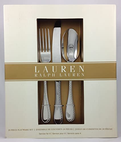 """Lauren Ralph Lauren """"Spectator"""" 20-Piece Stainless Steel Flatware ..."""