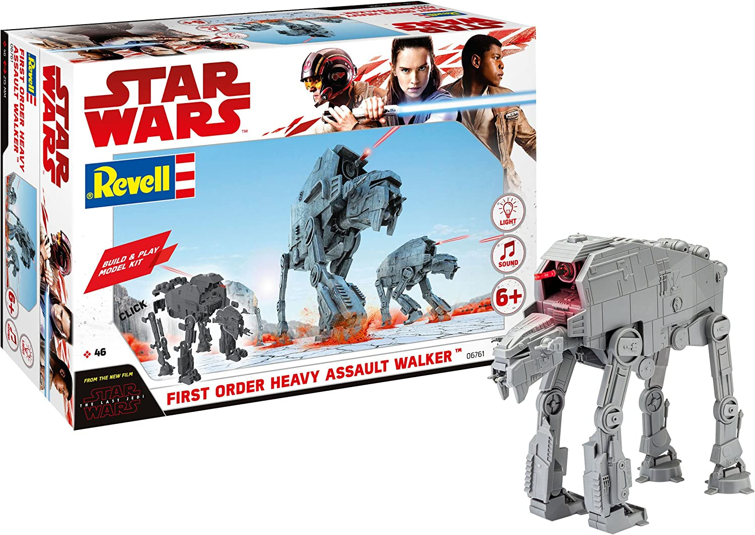 With /& Revell 06761 Star Wars Episode VIII Build /& Play Heavy Assault Walker