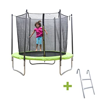 Ise cama elástica para niños Fitness redondo 245 cm verde ...