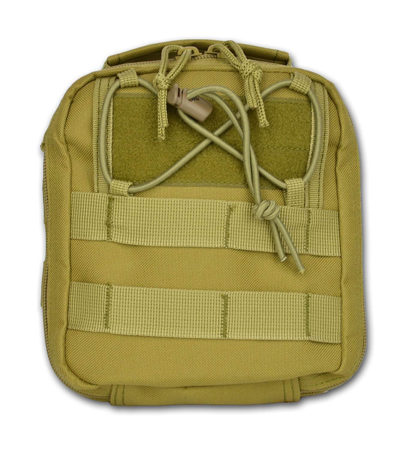 Lightning X Products Premium Nylon MOLLE Pouch Emergency Kit, Ideal for Tactical Medics, Military, Outdoor Enthusiasts 8 x 6.5 x 3 , Black or Tan, for Gunshot Wounds Bleeding Control