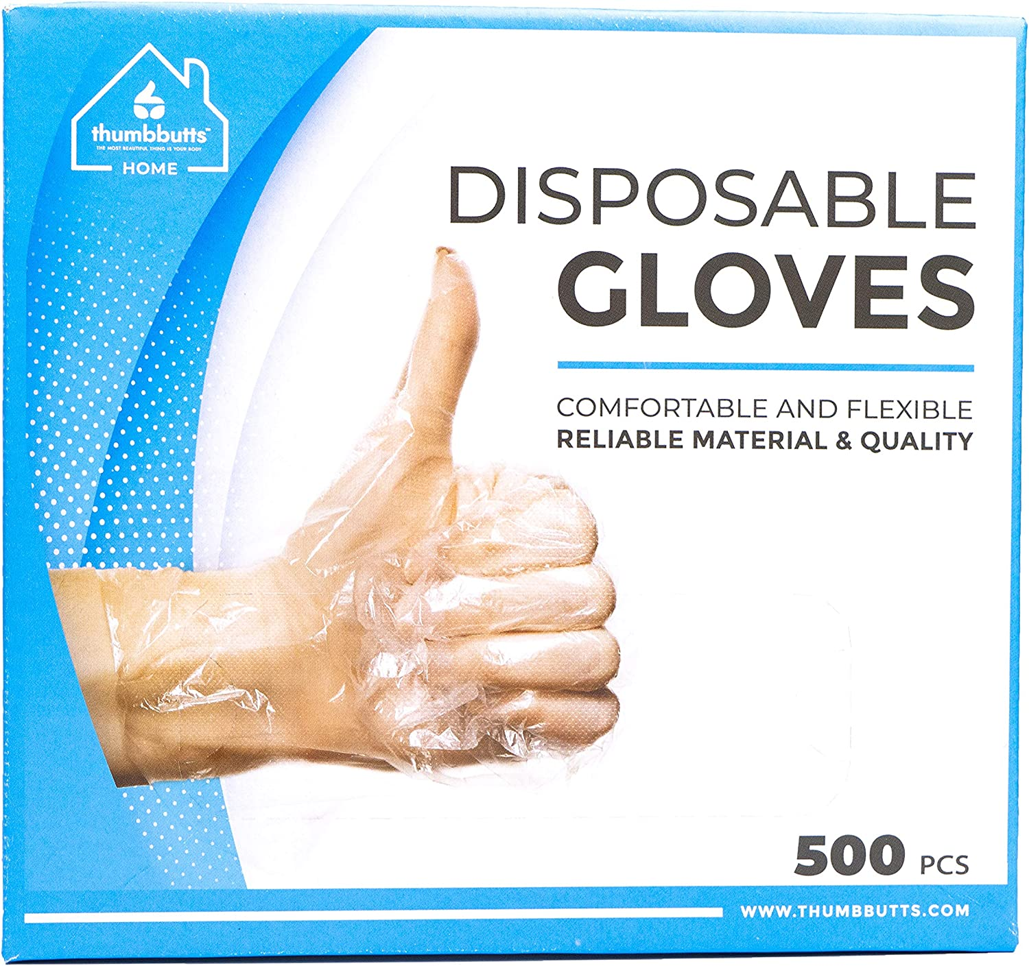 Disposable Gloves, Multipurpose Plastic Gloves Disposable, Non-Latex Food Handling Gloves, Poly Gloves for Food Service and More, Clear Gloves