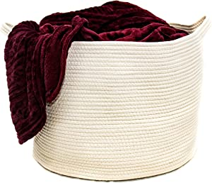 Sweepstakes: Blanket Basket – Large 14″x12″ Natural Woven Basket w/Handles…