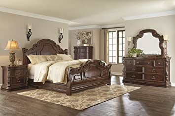 Ashley B715 Florentown Bedroom Set (5 Pc King Sleigh Bedroom Set)