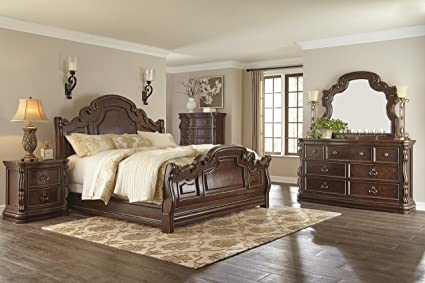 Amazon.com: Ashley B715 Florentown Bedroom Set (5-Pc King Sleigh ...