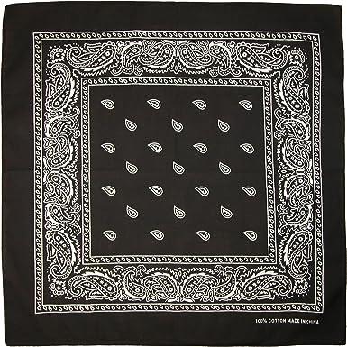 Jackster CTM® Unisex algodón Paisley Bandana Multiusos: Amazon.es ...