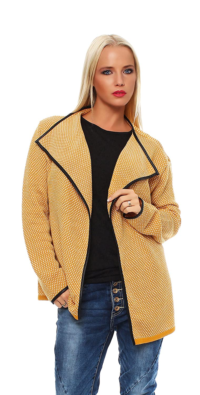 Mississhop Cardigan Strick Jacke Sweatshirt Pullover Umhang Überwurf Einheitsgröße 36 38 40 S M L 3 Farben