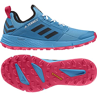 adidas outdoor Women's Terrex Speed LD Shock Cyan/Black/Active Pink 9 B US | Trail Running
