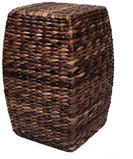 BirdRock Home Seagrass Accent Stool | Made Of Hand Woven Seagrass | 21 Inch  Stool |