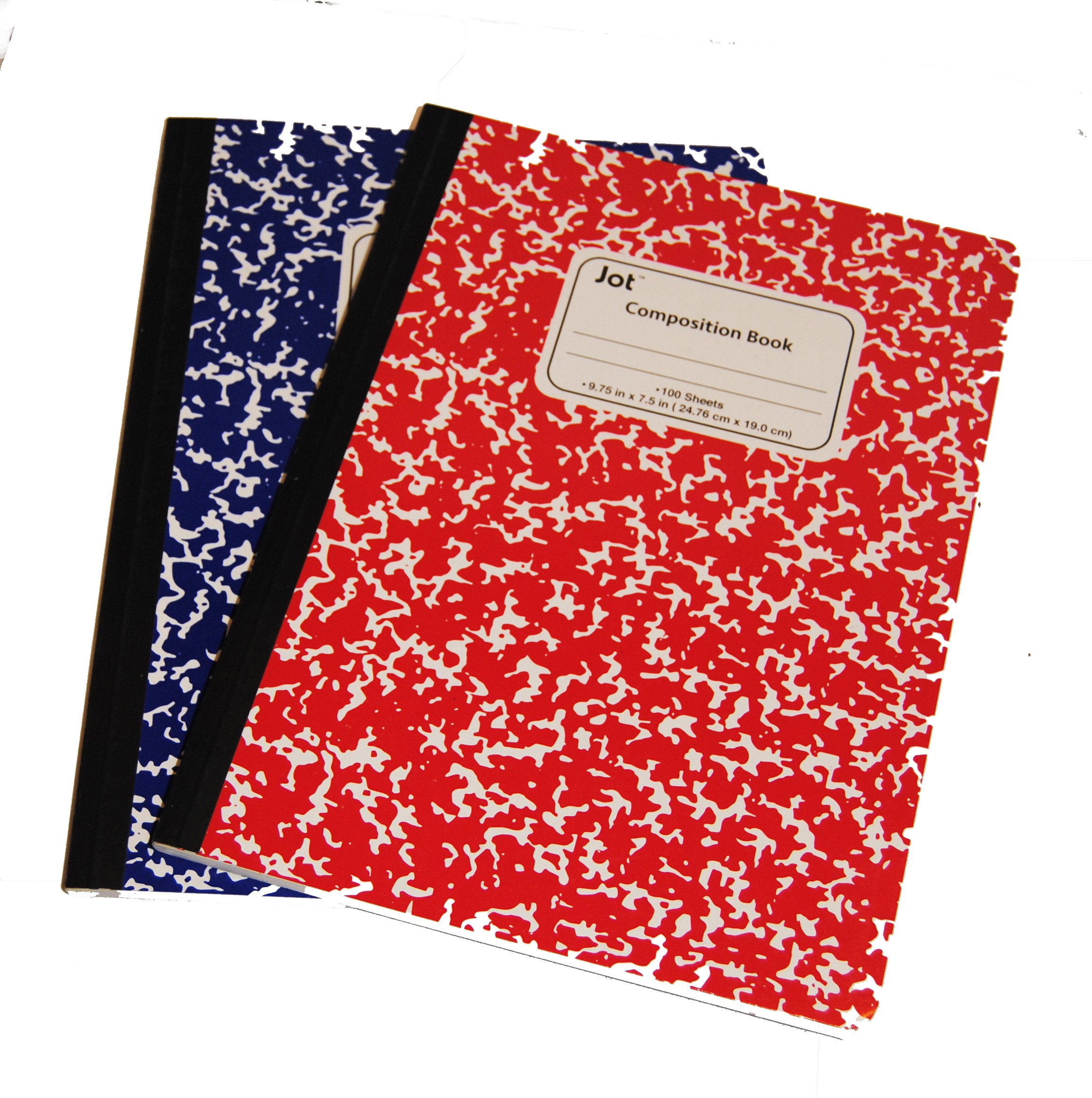 Single color Composition Notebooks Wide-ruled (100 sheets) (blue/red)