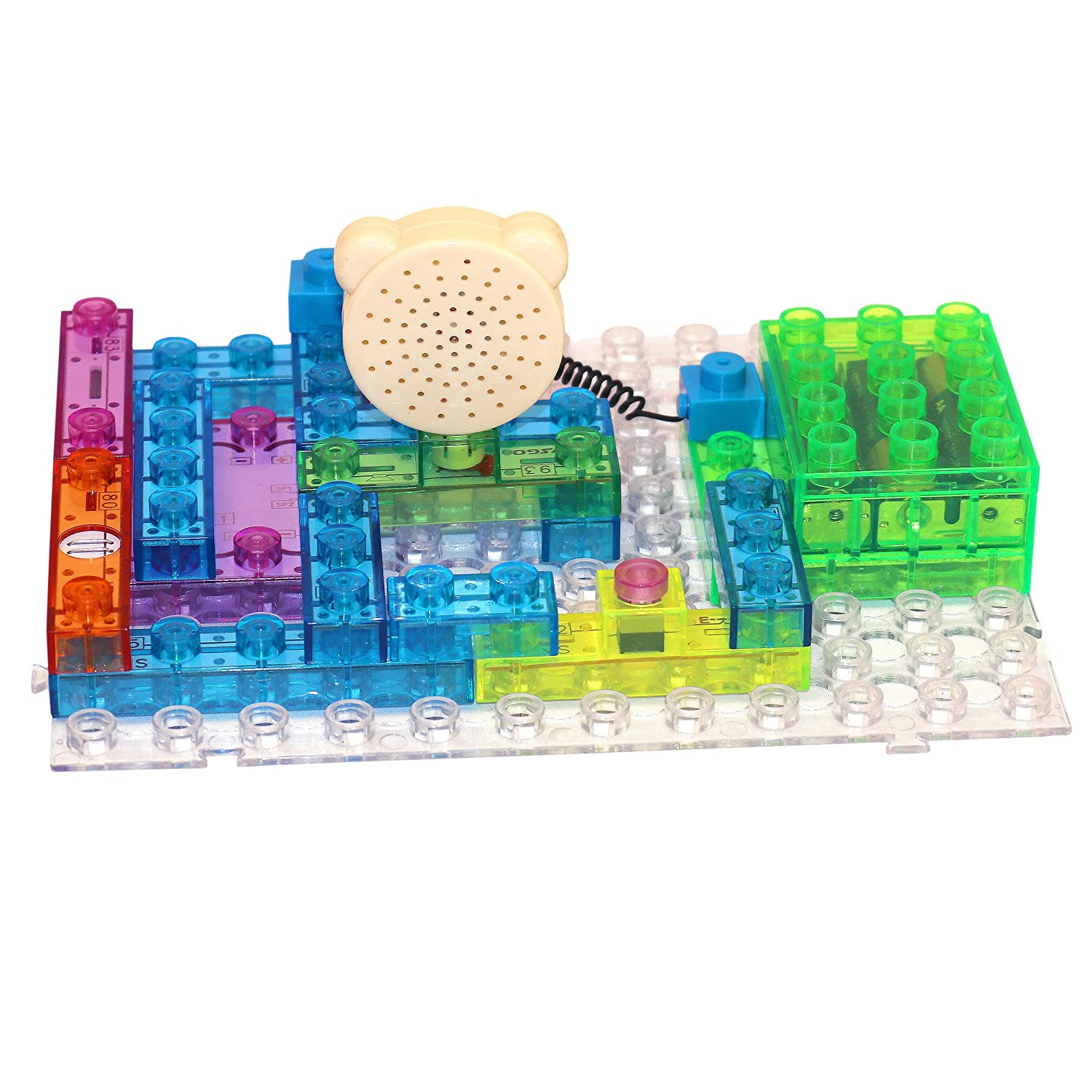 Amazon.com: Circuit Kit With Lighted Bricks 115 Different Projects ...
