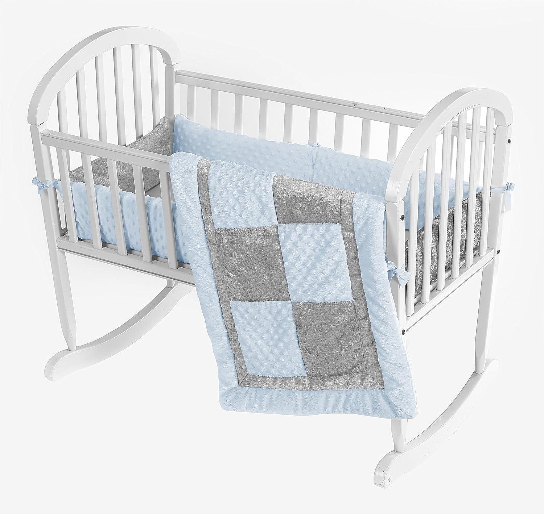 Baby Doll Bedding Croco Minky Cradle Bedding Set Beige//Grey 8100cr36