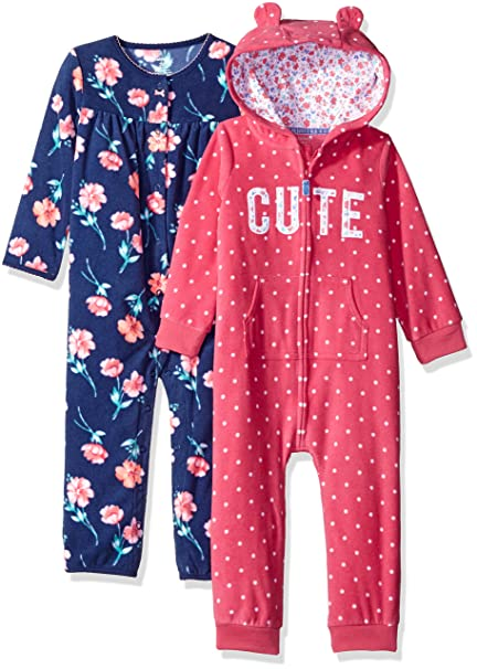 5456fb5567a Amazon.com  Carter s Girls  2-Pack One Piece Romper  Clothing