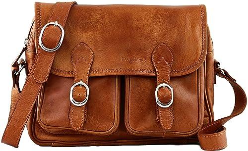 prix de gros couleurs délicates dernière collection PAUL MARIUS sac bandoulière en cuir souple besace pour femme LE ROUEN